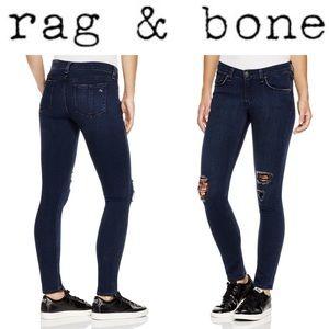 rag & bone/Jean Soft Indigo Skinny Jeans